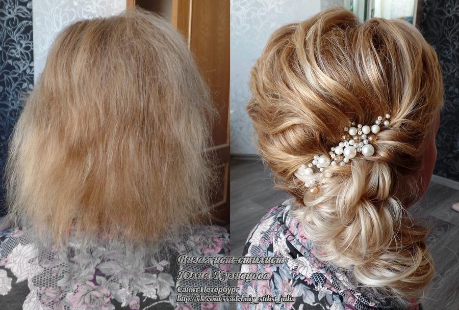 свадебные прически с искусственными накладными волосами видео